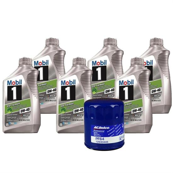 Mobil 1 0W40 6 Qt. Oil & ACDelco PF64 Filter Oil Change Kit