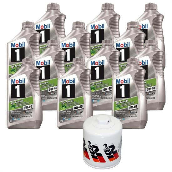 Mobil 1 0W40 12 Quart Oil/K&N HP 1017 Filter Oil Change Kit