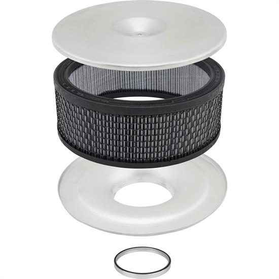 14 Inch Mini Velocity Stack Flat Base Air Cleaner Premium Filter