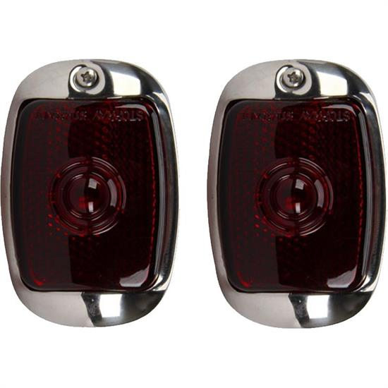 1937-1938 Chevy Red Tail Light Assembly, Left and Right Pair