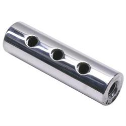 Round Polished Aluminum Fuel Block, 3-Hole