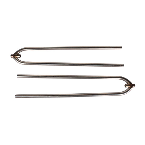 Front Hairpin Radius Rods, 27 Inch, Unpolished Stainless