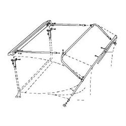 Deluxe 1915-25 Ford Model T Roadster/T-Bucket Top Bow Frame Kit