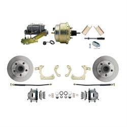 Speedway 55-58 Chevy Power Disc Brake Kit, 11 in. Standard Disc Brakes