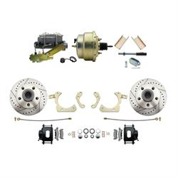 Speedway Deluxe 55-58 Chevy Disc Conv. Kit, D/S Rotors, Black
