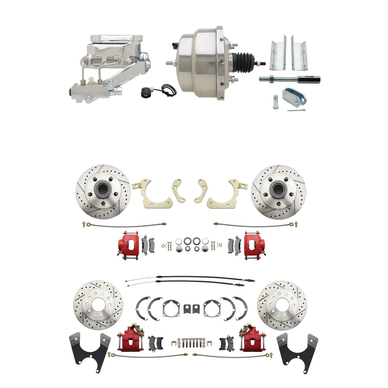 "1955-57 GM Fullsize Tri-Five Cars 7/"" Dual Power Brake Booster Conversion Kit"