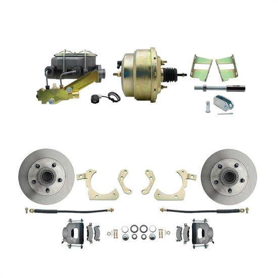Speedway Power Disc Brake Kit, 11 in. Std Disc Brakes, Chevy 1959-64