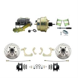 Speedway Deluxe 59-64 Chevy Disc Conv. Kit, D/S Rotors, Black