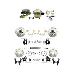Speedway 59-64 Impala Front & Rear Disc Brake Kit, D/S Rotors, Black