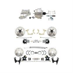 Speedway 59-64 Impala 4 Wheel Power Disc Brake Conv. Kit, D/S Rotors