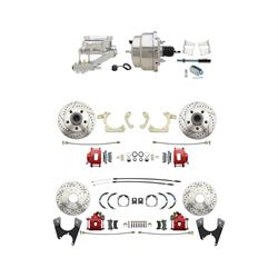 Speedway 59-64 Impala 4 Wheel Power Disc Brake Conv. Kit, D/S Rotors