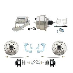 Speedway Deluxe 65-68 Chevy Disc Conv. Kit, D/S Rotors, Black