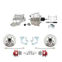Speedway Deluxe 65-68 Chevy Disc Conv. Kit, D/S Rotors, Red