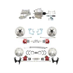 Speedway 65-68 Impala 4 Wheel Power Disc Brake Conv. Kit, D/S Rotors