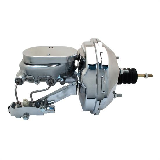 Speedway 9 in. Chrome Power Brake Booster Conv. for GM A, F, & X Body