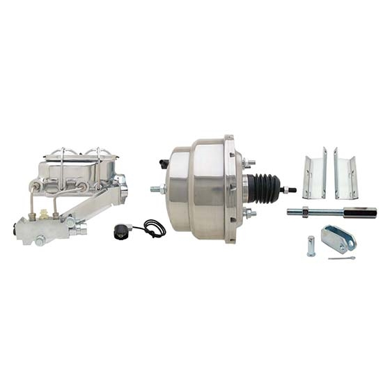 55-57 Fullsize Chevy Brake Booster Kit, 1-1/8 In Bore, SS