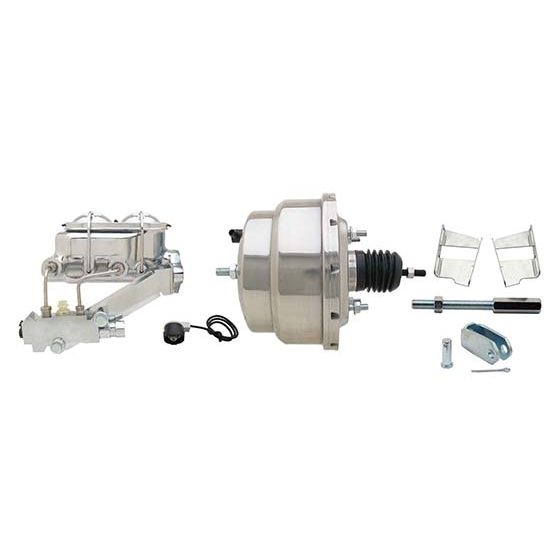 58-70 Fullsize Chevy Brake Booster Conversion Kit, 1 In Bore, SS