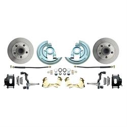 64-74 GM A/F/X Body 11 In Disc Brake Kit, Std Rtr, Blk Caliper