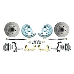 64-74 GM A/F/X Body 11 In Disc Brake Kit, Std Rtr, Gry Caliper