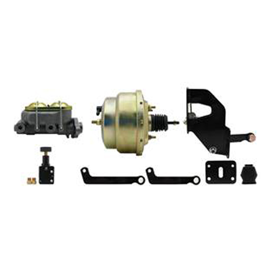 8 Inch Dual Power Brake Booster Kit w/Proportioning Valve