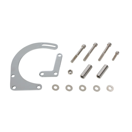Small Block Chevy Motor Mount Brackets: Small Block Chevy Low Mount Alternator Bracket, Chrome