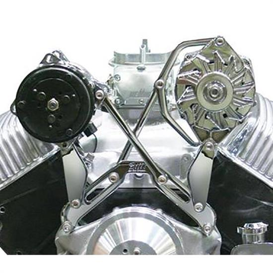 chevy small block v8, hardware included, natural, short water pump style