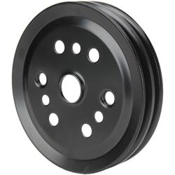 Bills Hot Rod Co. 2036 Steel Crankshaft Pulley, 2 Groove, Black