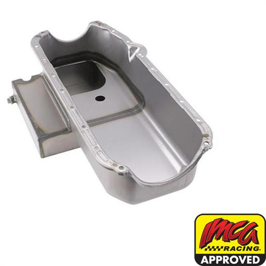 Speedway Small Block Chevy Claimer Oil Pan, LH Dipstick