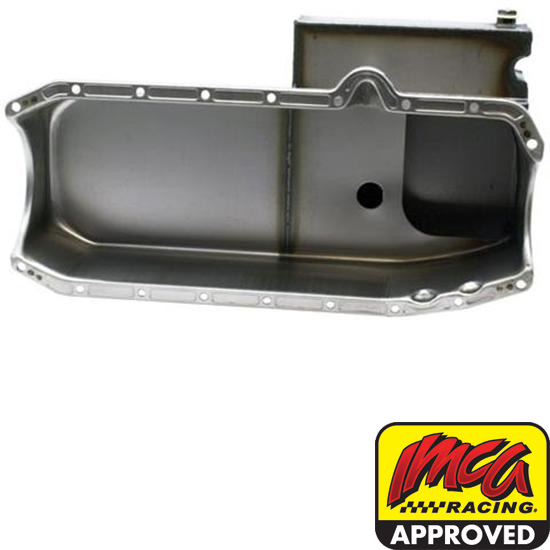 Speedway Small Block Chevy Claimer Oil Pan, RH Dipstick
