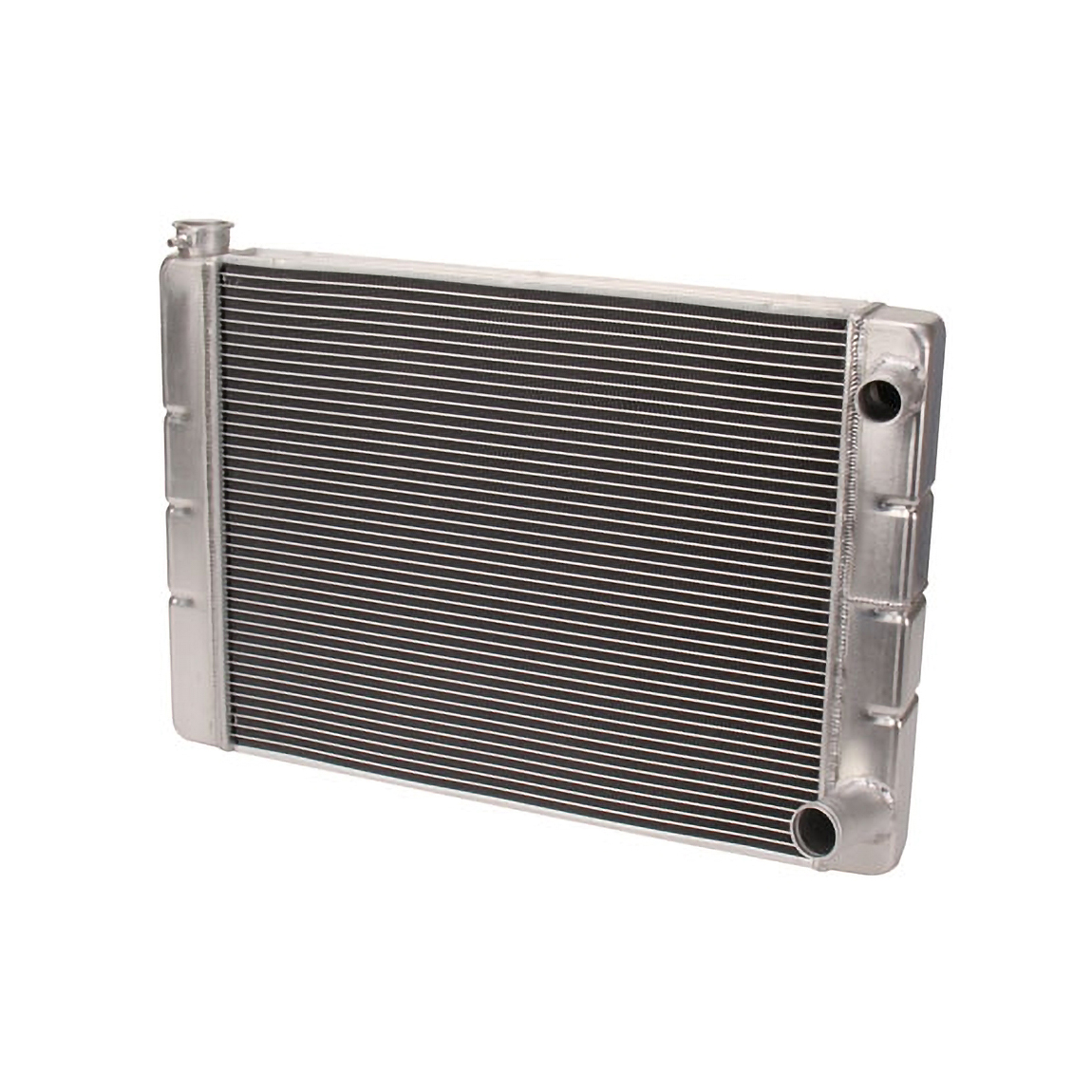 """19/"""" X 26/"""" Aluminum Crossflow Radiator High Performance GM Chevy Inlet Outlet HD"""