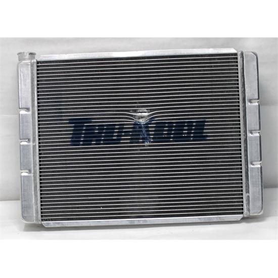 28 x 19 Universal Dual Pass Aluminum Ford Mopar Hotrod Racing Radiator Auto Tran