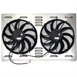 Dual 12 Inch Fan Shroud Combo, 28 W x 17 H