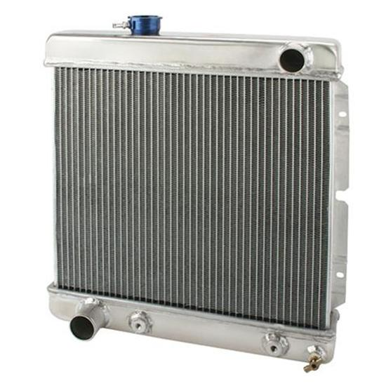 1964-66 Mustang Radiator - Opposing Water Necks