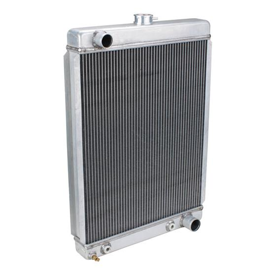 universal aluminum radiator 27 inch tall passenger side outlet