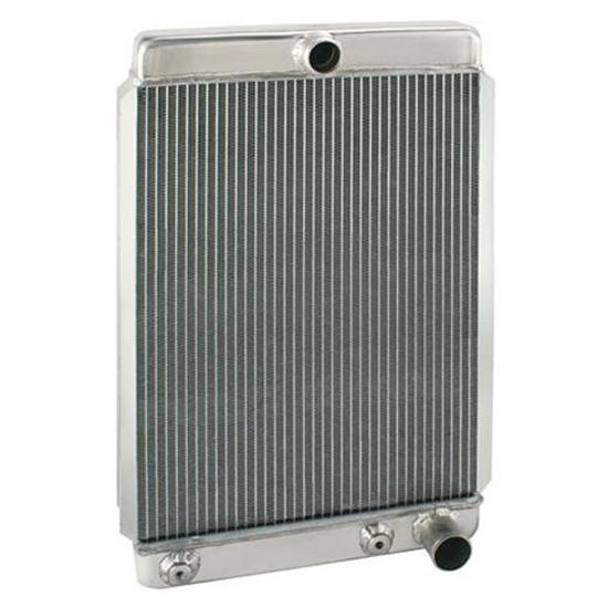 Universal Aluminum Radiator, 26 Inch Tall, Passenger Side Outlet