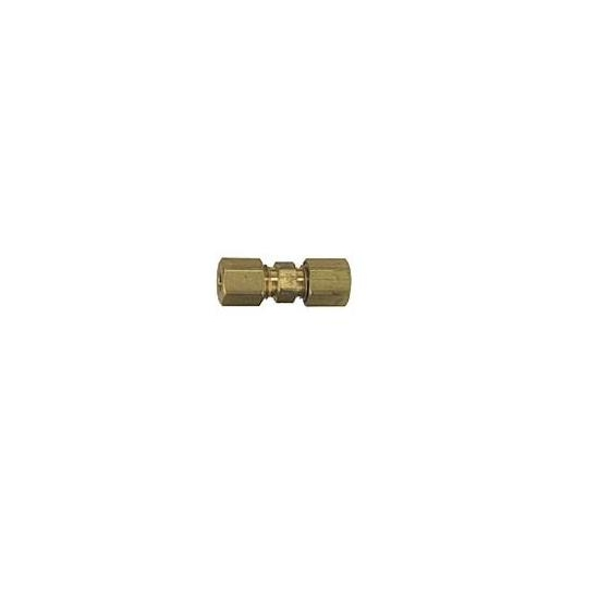 Brass Compression Tube Fitting, Straight Union