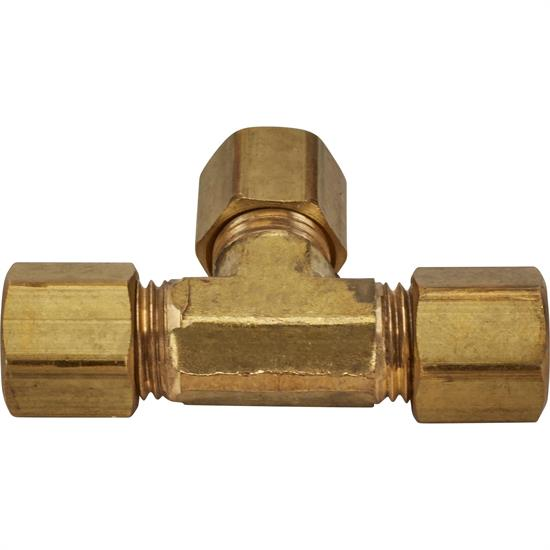 Brass Compression Tube Fitting, Tee Union