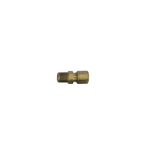 Brass Compression Fitting, 3/16 Tube to 1/8 NPT, Straight