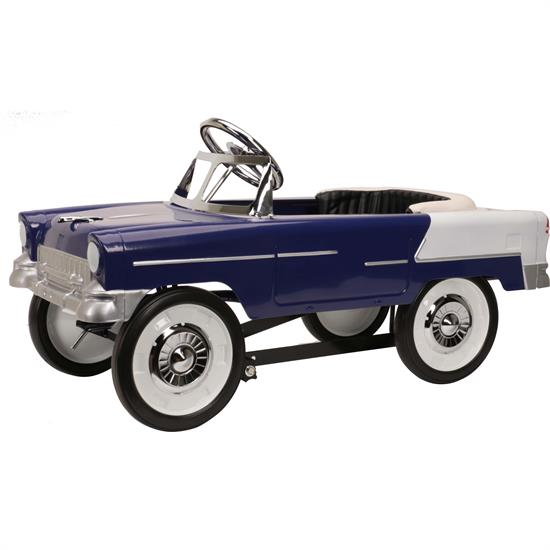 Blue Diamond Classics 918-0035 1955 Chevy Pedal Car, Purple/White