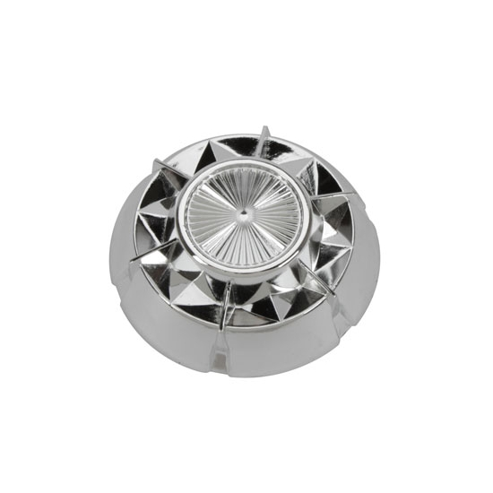 Murray® Starburst Hubcap, 3-3/8 In OD, Chrome Plastic