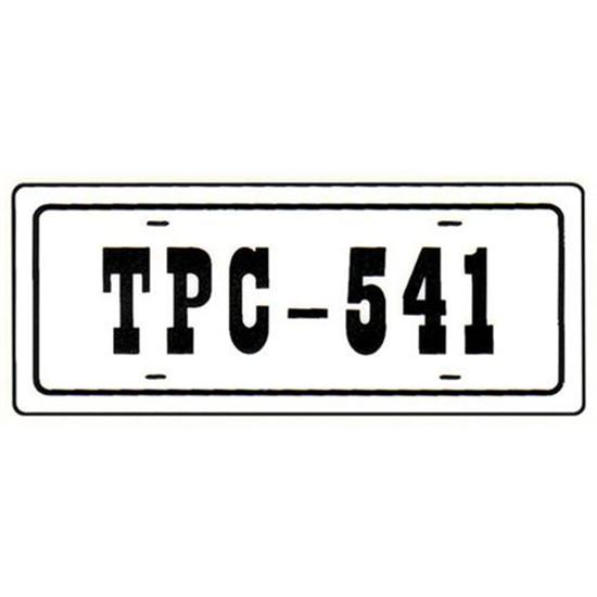 Murray® TPC-541 License Plate Decal
