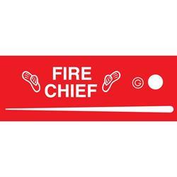 Garton Fire Chief Pedal Car Graphic