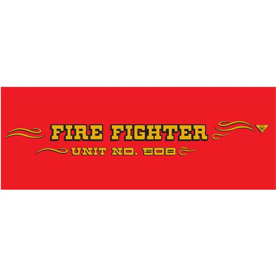 AMF 508-519 Fire Fighter 1969-70 Pedal Car Graphic