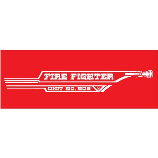 AMF 508-519 Fire Fighter 508 1967 Pedal Car Graphic, ,