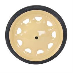 Pedal Car Steelcraft Artillary Wheel w/Tire, 7-1/2 Inch O.D., 7/16 Inch Axle