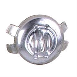Chrome Plastic Hubcap - 2 Inch Diameter