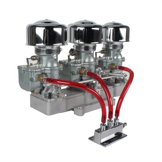 Three Plain 9 Super 7® Carbs to 4-Bbl Intake Manifold Adapter Kit