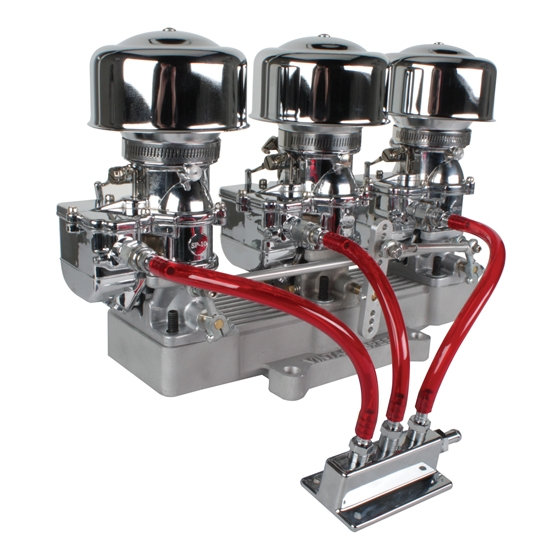 Three Chrome 9 Super 7® Carbs to 4-Bbl Intake Manifold Adapter Kit