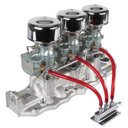 9 Super 7® 3x2 Carb/Edelbrock Intake Manifold Kit 1938-48 Flathead