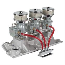 9 Super 7® 3x2 Carb/Intake Manifold Kit, 1957-86 S/B Chevy